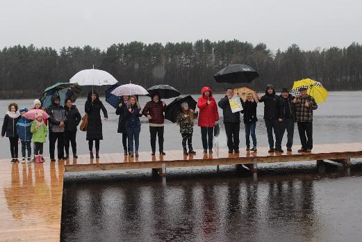 Otwarcie pomostu nad jeziorem Pęczerzyno