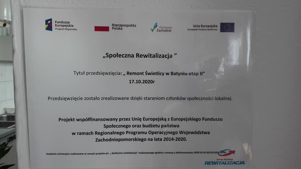 """""""Remont świetlicy wiejskiej w Batyniu-etap II"""""""